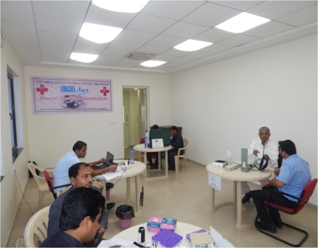 Annual Medical Examination organized by RIA Diagnostics, Bangalore, for employees of UNI Abex